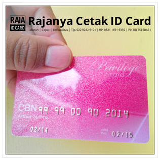 cetak id card gliter