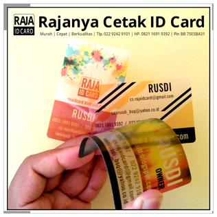 cetak kartu nama transparan
